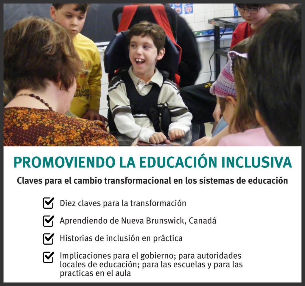 Promoviendo la educación inclusiva pamphlet