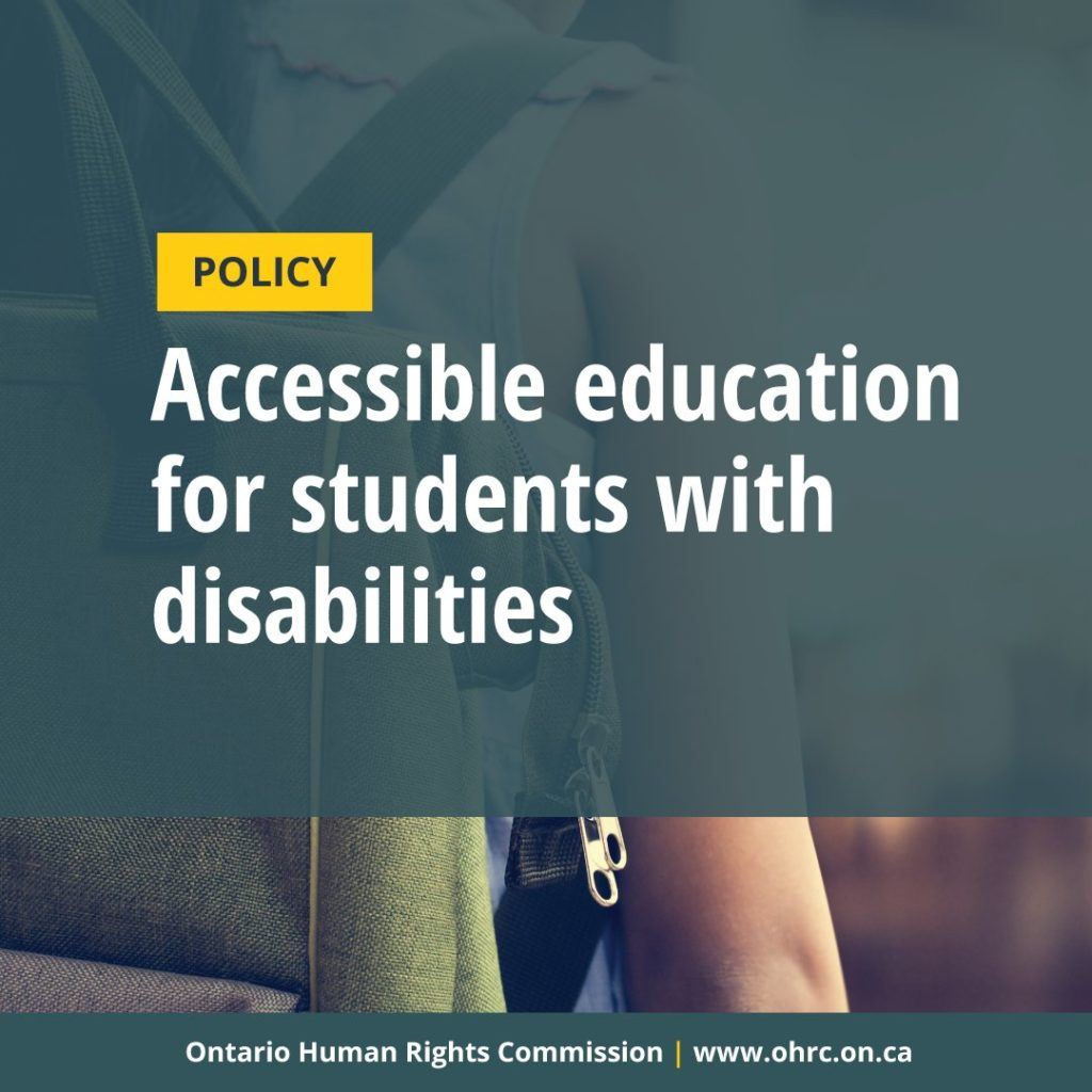 Accessible education for students with disabilities